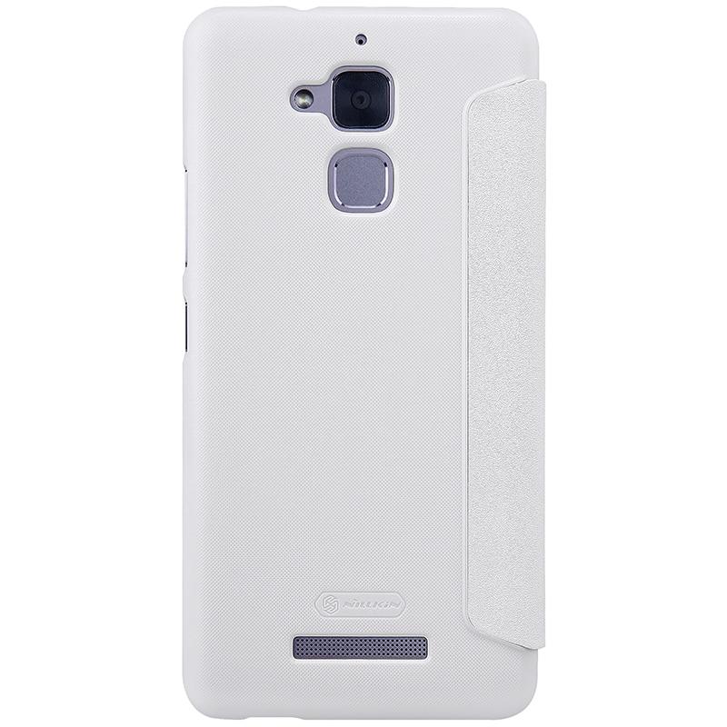 newest c12e8 e9bb2 For asus zenfone 3 max zc520tl case NILLKIN sparkle Luxury PU leather case  flip cover for zenfone 3 max zc520tl cover phone bags