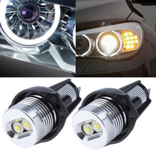 2pcs Ultra Bright 7000K White LED 6W Angel Eye Halo Rim Bulb For BMW E90 E91 3 Series 325i 328i 335i 2006-2008