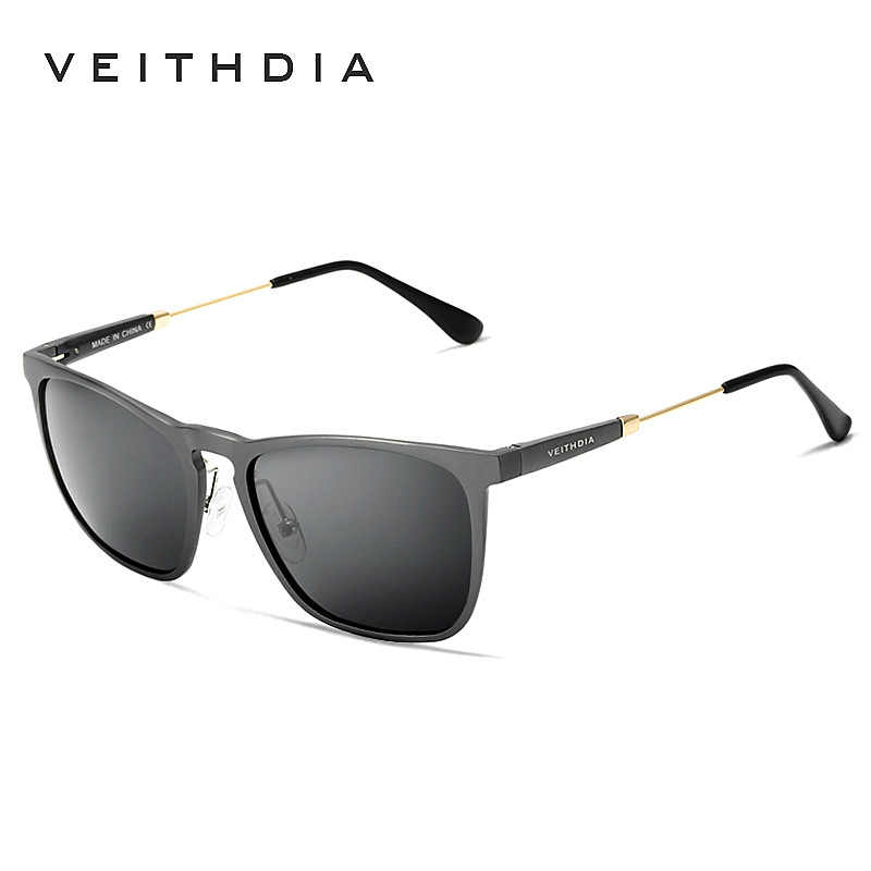 33d2c5c08 VEITHDIA Polarized Vintage Sunglasses Men Fashion UV 400 Brand Designer  Square Sun Glasses gafas oculos de