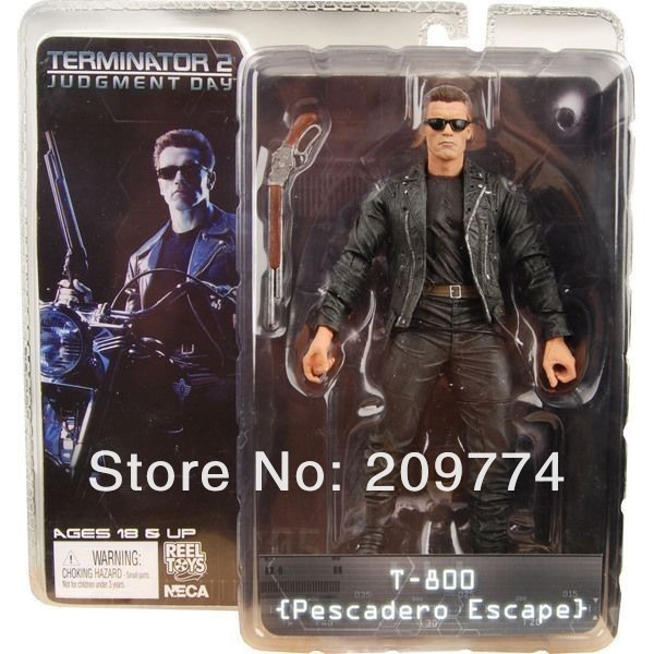 """NECA Terminator 2 T2 JUDGEMENT DAY T-800 PESCADERO ESCAPE 7"""" Figure"""