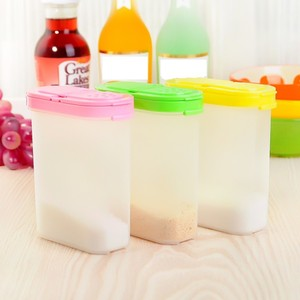 3 Color 250ml Plastic Food Seasoning Container Kitchen Spice Boxes Jar Double Lid Cereal Condiment Bean Storage Bottle Container(China)