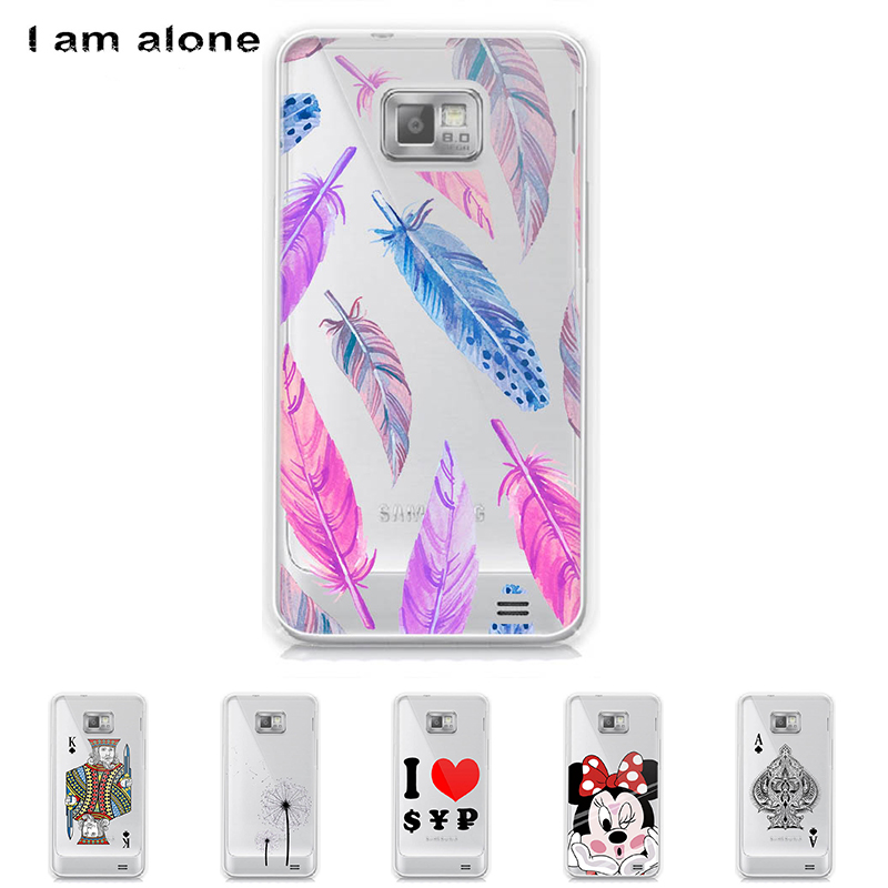For Samsung Galaxy S II S2 I9100 Solf TPU Silicone Shell 4.3 inch Color Paint Case Mobile Phone Cover Bag Cellphone Skin Mask
