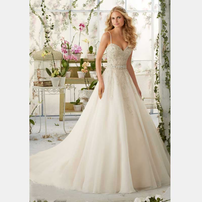 Buy 2016 year spaghetti strap ivory white for Big white wedding dresses