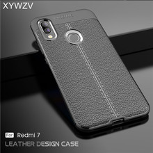 Xiaomi Redmi 7 Case Luxury PU leather Rubber Soft Silicone Phone For Back Cover Fundas