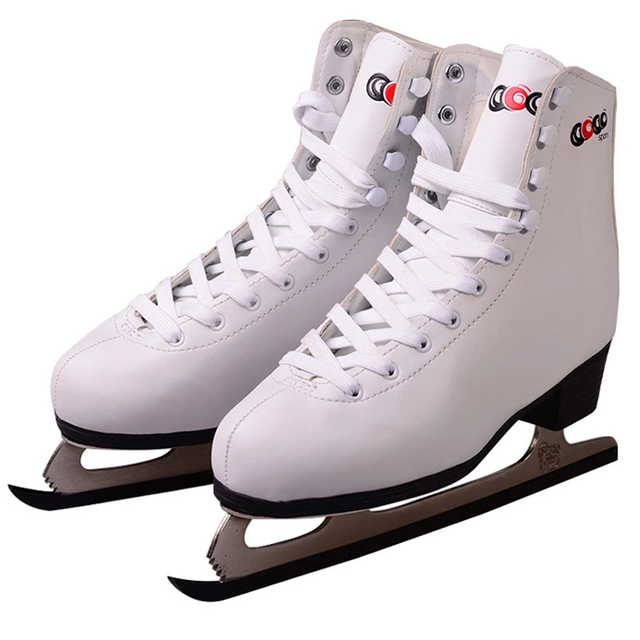 Hockey Sobre Zapatos De Cuero Hielo Genuino 100 Mujeres Patines ...