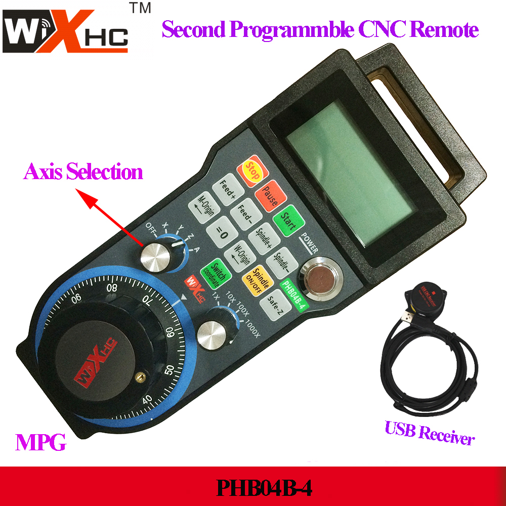 US $223 0  Widely used in 4 Axis CNC machine CNC pendant CNC wireless  remote control wireless electronic handwheel controller PHB04B 4-in CNC