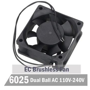 2pcs Gdstime Ball 60mm EC Fan 60mm x 25 mm AC 110V 115V 220V 240V Cooling Fan 6CM Brushless Aixal Cooler Fan ac fan s254ap 11 2 3 110v sinwan 3 wire 25489 cooling 620470cfm 19001450 rpm