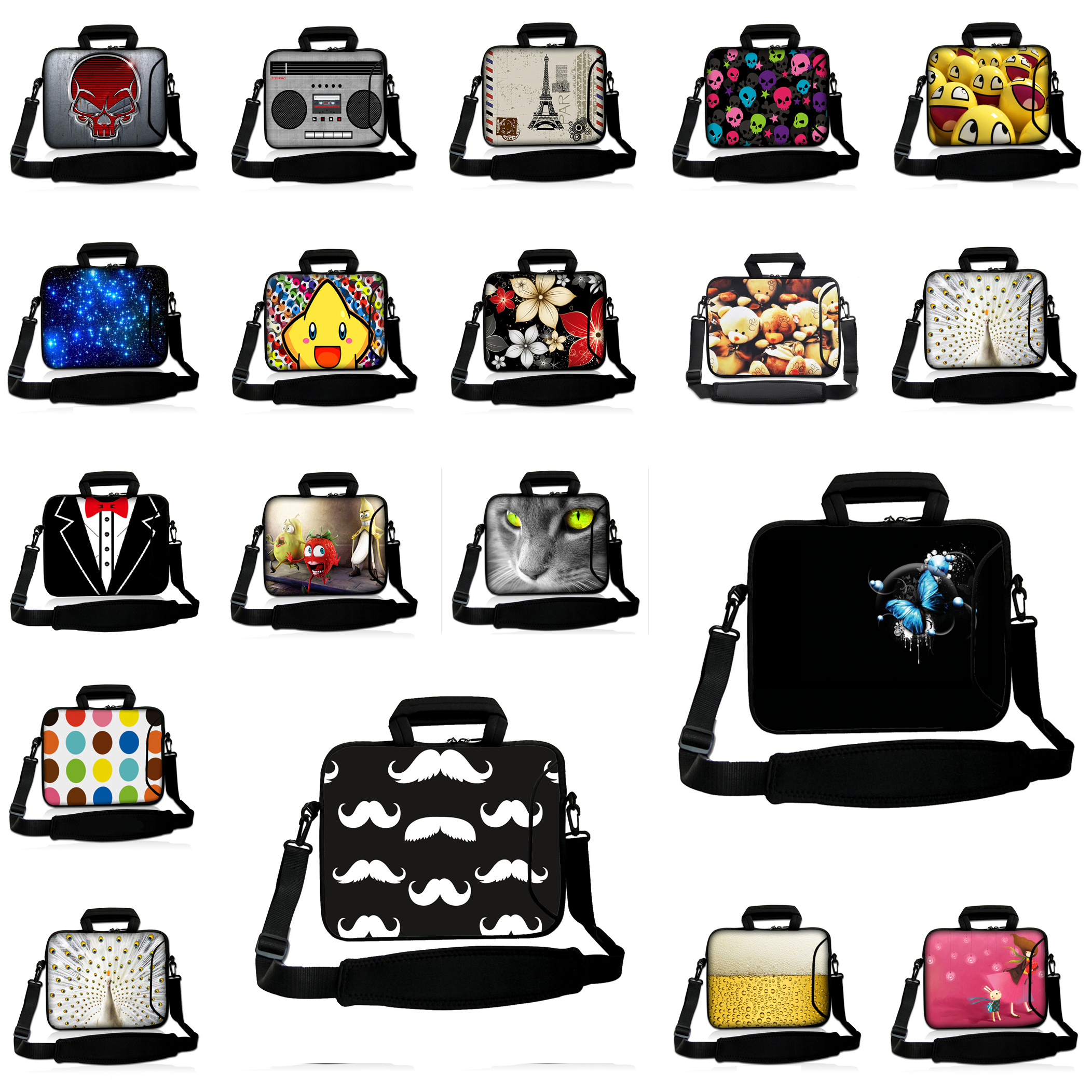 Hot Laptop Bag 15 6 Inch For Women And Men Neoprene Computer Briefcase Zipper Universal 15