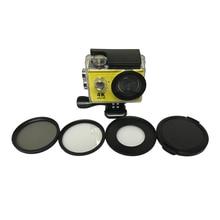 Eken tekcam acessórios h9 52mm cpl polarizador circular filtro uv tampa da lente para Eken h9r h9se h9 pro H8 H9 h8r h8pro h8se H3 h3r
