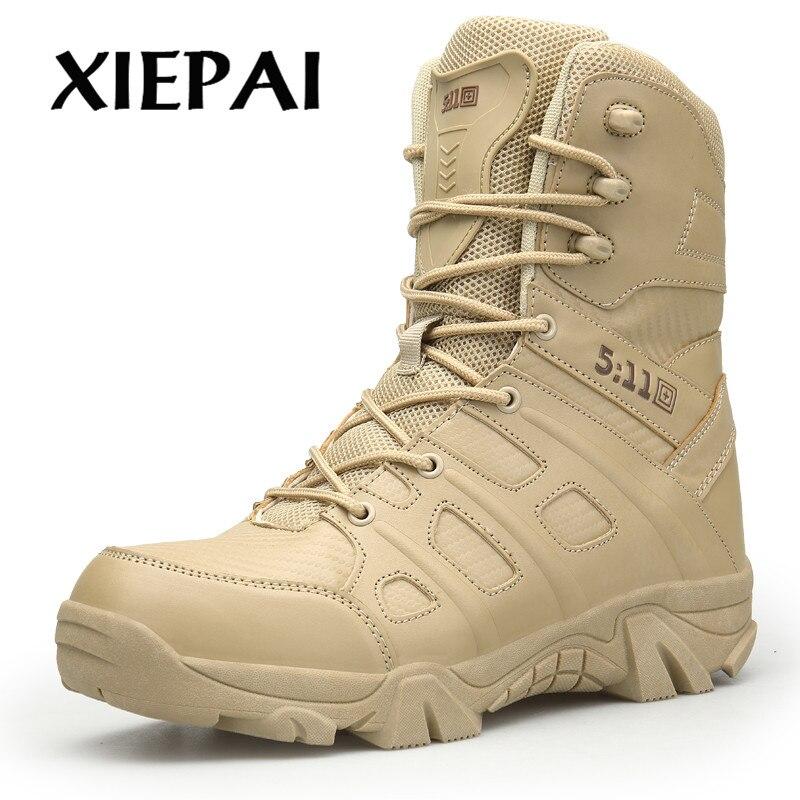 Da Força Livre Marca Botas Qualidade Deserto Sapatos Especial Alta Men Ao De Dos Couro Xiepai Color Black Tático Ar sand Militar Homens Combate Tornozelo qwUfCn