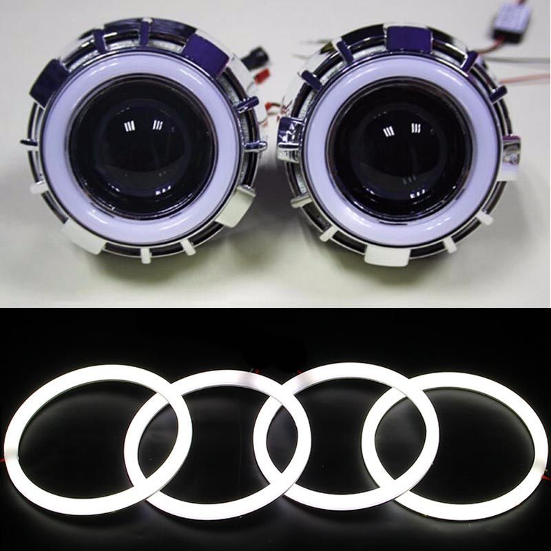 4pcs Super white 105mm 106mm E46 2D SMD Led angel eyes halo rings for BMW E46 Coupe 2D E46 Cabrio LED headlight car accessories led rings white 3014 smd led angel eyes headlight halo ring marker 131mm 145mm for bmw e46 non projector