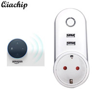 QIACHIP Wifi Wireless Power Smart Home Socket Outlet Remote Control Switch Work With Amazon Alexa For