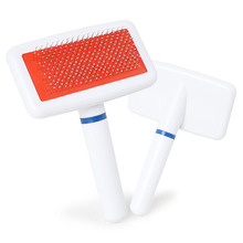 hot sale cat comb combing cats Plastic Handle Brush Airbag Stainless Steel Pin Comb For Small Dog Cats