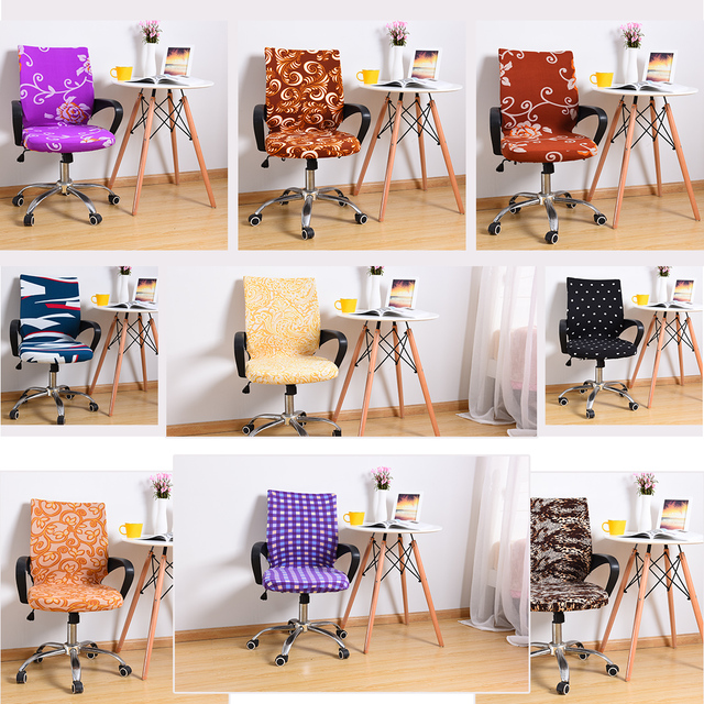 Chair Covers For Sillas Comedor Computer Chair Cover Office Chairs With  Armrest Elastic Seat Covering Protector