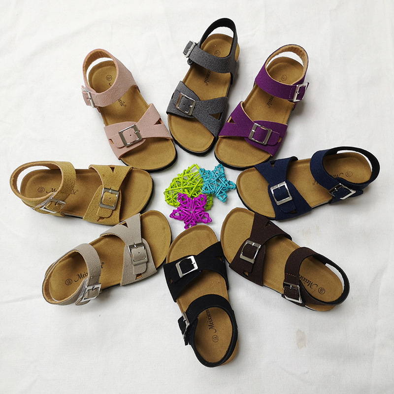 Girls Shoes Sandals Kids PU Leather 2020 Baby Shoes Children Gladiator Sandals Baby Girls Flat Beach Shoes Kids Casual Shoes