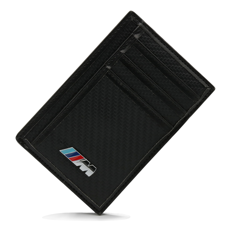 M Logo in fibra di carbonio Credit Card titolare Titolare in caso di Card Wallet For BMW X5 E90 E60 F30 F10 F15 E63 E64 E65 E86