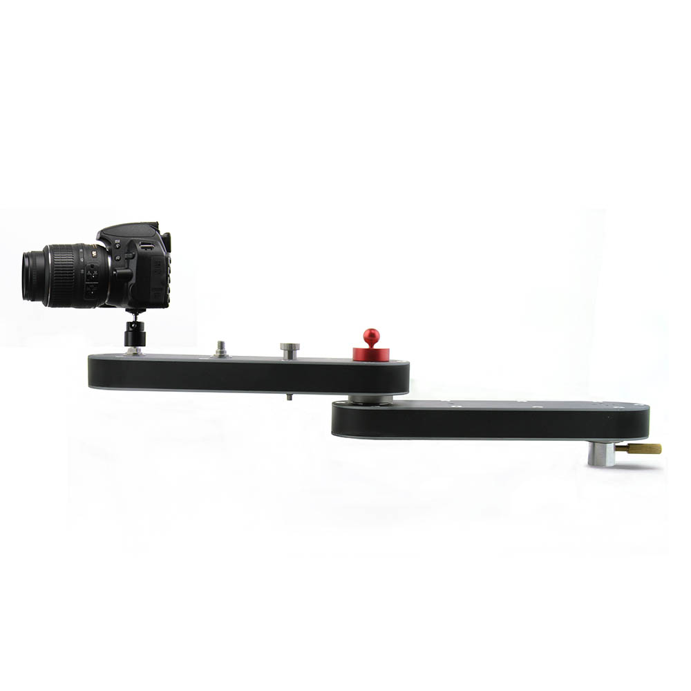 Camera Slider Rail Track Dolly With Panning And Linear Motion Extends Up To 4x Distance For DSLR Camera GoPro Smartphone Video