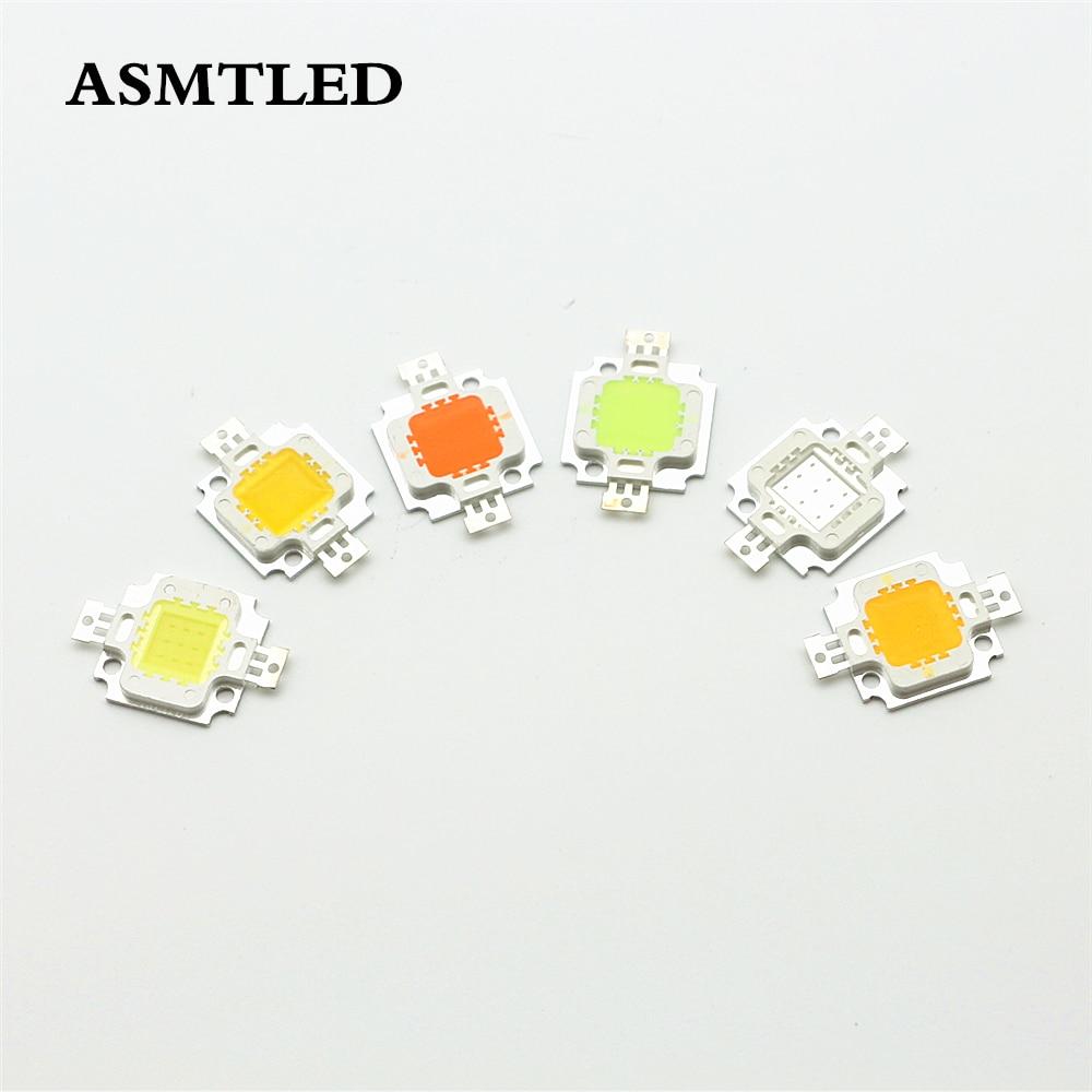 12V - 15V 10W High Power Integrated LED Lamp Chips SMD Bulb For Floodlight Spot Light White/Warm White/Red/Green/Blue/Yellow
