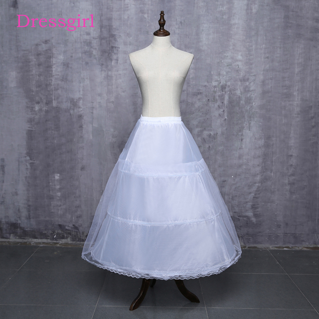 01524f2ef82a 2019 Hot Sale 3 Hoop Ball Gown Bone Full Crinoline Wedding Petticoats For Wedding  Dress Wedding Skirt Accessories Slip