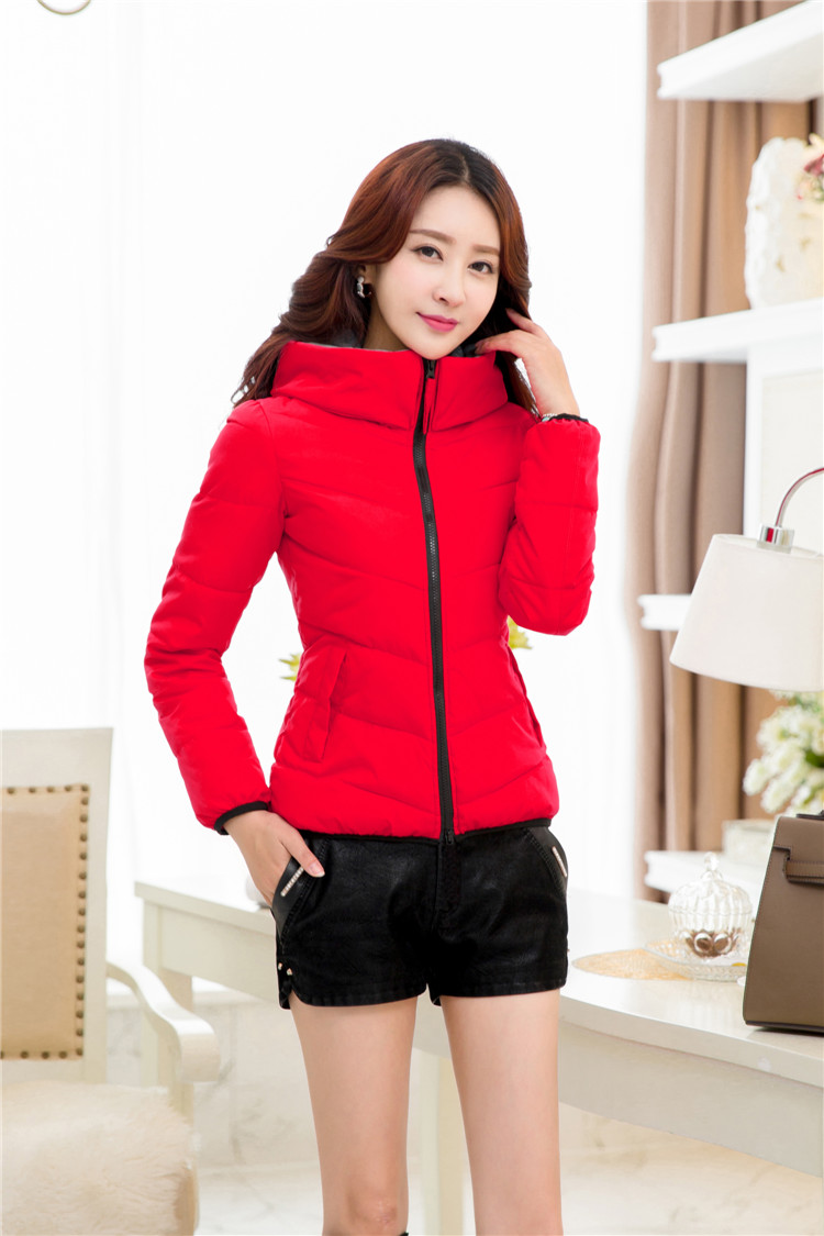 winter jacket women hooded collar slim wadded jacket outerwear black and red  women coat plus size  xl-5xl  6xl   50 цены онлайн