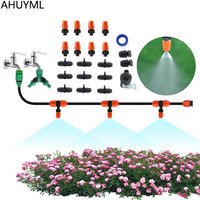 AHUYML Automatic Micro Drip Irrigation System Garden Irrigation Spray Self Watering Kits Adjustable Dripper Villa Cooling