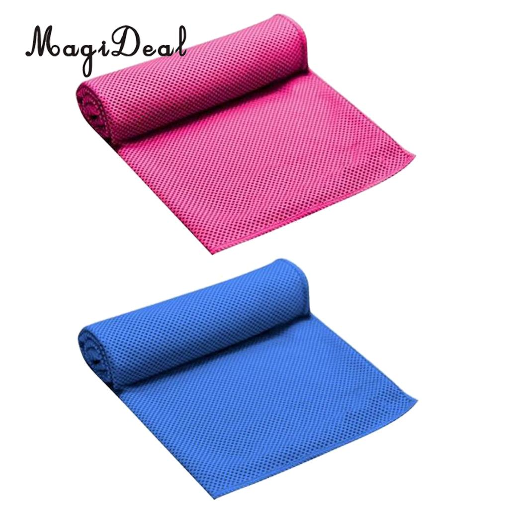 MagiDeal 2 Pcs Premium Instant Cooling Towel Gym Towels Ice Cold Towel for Golf Cycling Jogging Fitness Sports