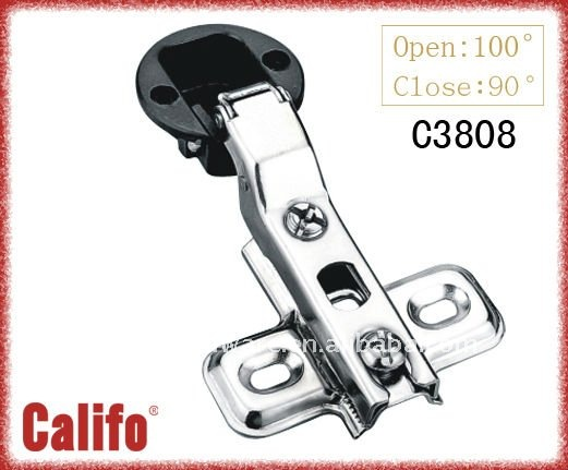 26mm cup concealed glass hinge C3808 half over lay
