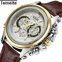 Luxury Top Brand Watch Men Temeite Sport Quartz Watches Male Leather Strap Men S Wristwatch Waterproof
