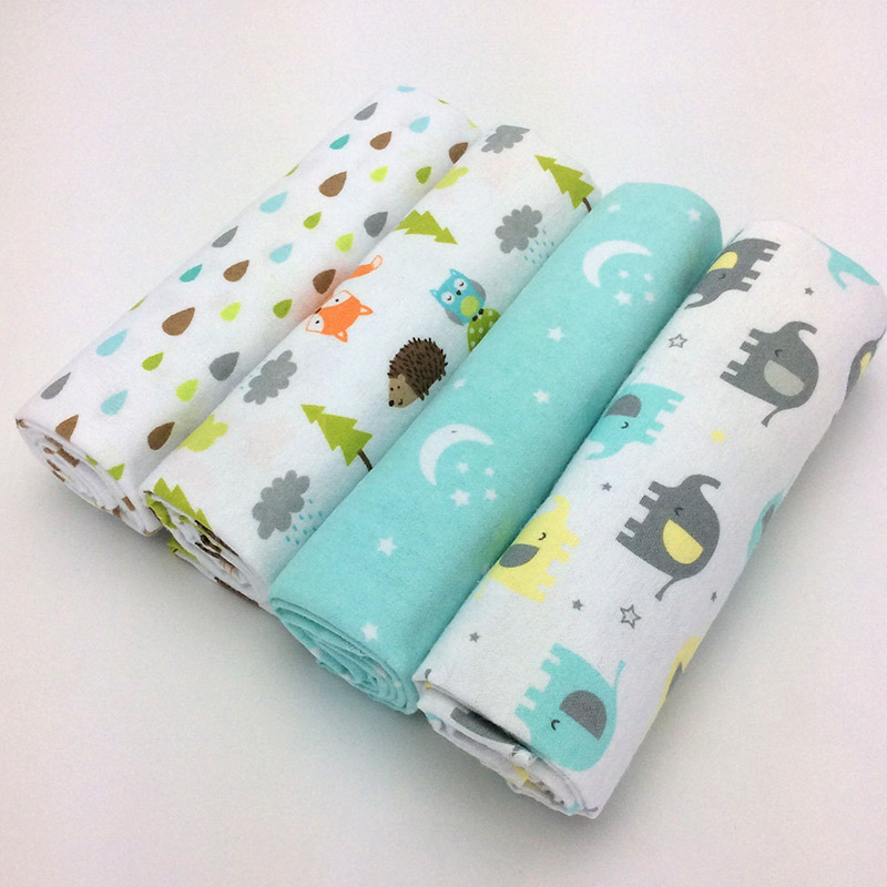 Receiving Blankets 4pcs/lot cotton flannel newborn baby blankets / cotton blanket / throws baby blanket grasping carpe 76 x 76cm цена