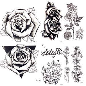 Top 10 Most Popular Fake Tattoo Rose Black Brands