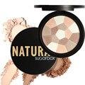 Impecável Maquiagem Rosto Pó Compacto Concealer Blush Bronzer Highlighter Cor Misturada Long-lasting Maquiagem Facial