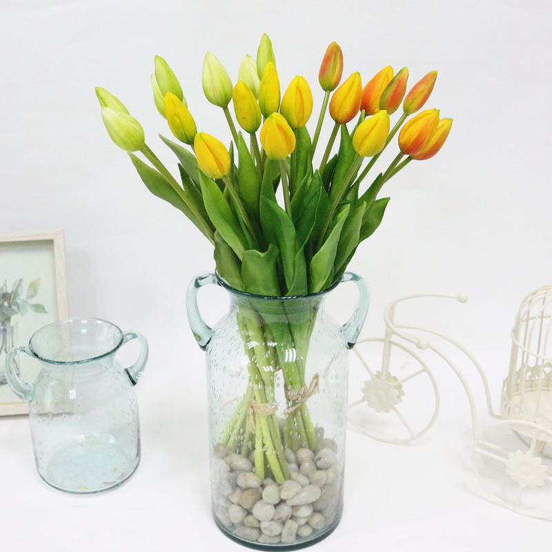 JAROWN Simulation Of Real Tactile Tulip Artificial High Quality Latex Tulip Bouquet Flores For Wedding Decoration Home Decor (7)