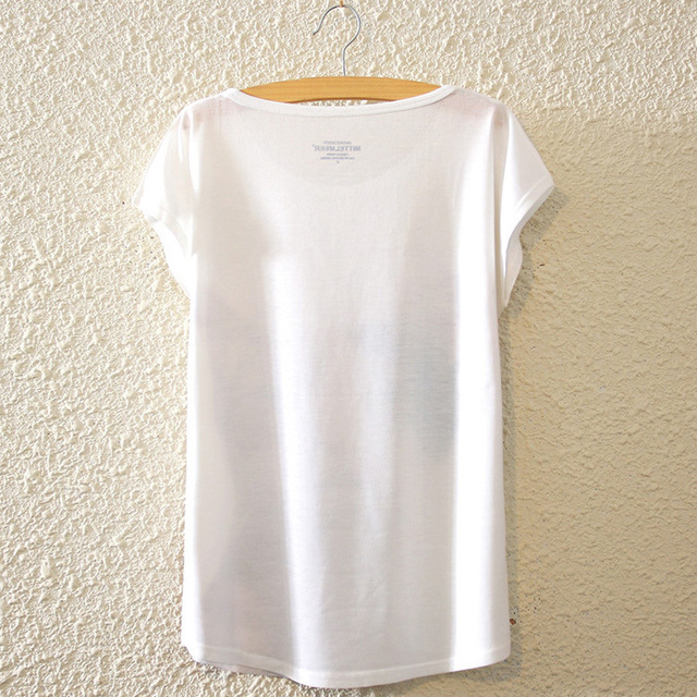 Women O-Neck Print Basic Plain T Shirt