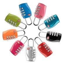 TSA330 customs password lock mini 4 digit password padlock luggage zipper wire rope anti-theft security protection