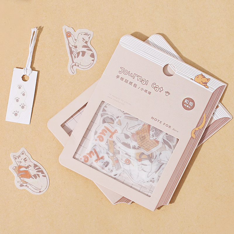 Kawaii Kitty Stickers Bag Animal Weekly Scrapbooking DIY Decor Bullet Journal Sticker Accessories Cute Student Stationery
