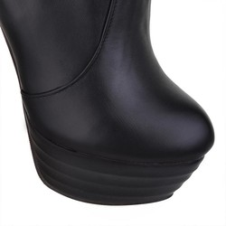 Taoffen Plus Size 34-46 Sexy Over Knee Thigh High Boots Women Autumn Winter Long Boots Shoes Women Platform Velvet Boots 5