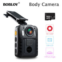 BOBLOV WN9 Worn Body Camera 2.0 LCD HD 1296P Video Mini Novatek 96650 64GB Night Vision 2600mAh Battery Police