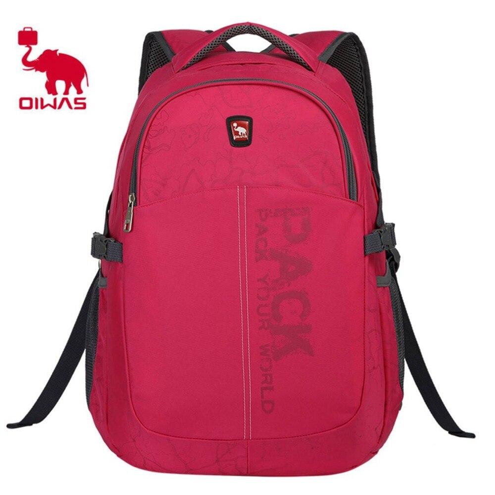 цена на Oiwas Leisure School Travel bag Multifunctional Waterproof Backpack 14inch Notebook Large Capacity Laptop Computer Nylon Bag