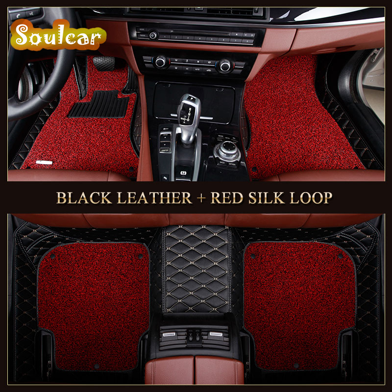 Custom fit Car floor mats for AUDI A8 A8L S8 D2 D3 D4 2008-2017 car cover rugs trunk floor foot carpet liners mats