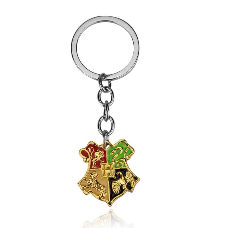 Nuevo diseño Har pot Hogwarts insignia de escuela mágica llavero de marca de oro joyería de declaración llaveros fans regalo de Chaveiro