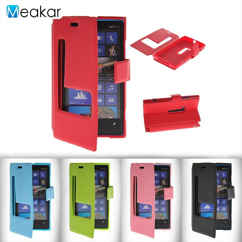 Двойной Вид из окна откидная из искусственной кожи 4.5for <font><b>Nokia</b></font> Lumia <font><b>920</b></font> чехол для Microsoft <font><b>Nokia</b></font> Lumia <font><b>920</b></font> N920 крышка сотового телефона чехол