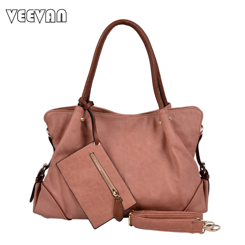 VEEVANV fashion new style 2017 high quality women handbag with small leather pur