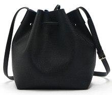 Mansur Bucket bag New unmarked buckets ladies retro straps messenger bag ladies bag PU shoulder bag