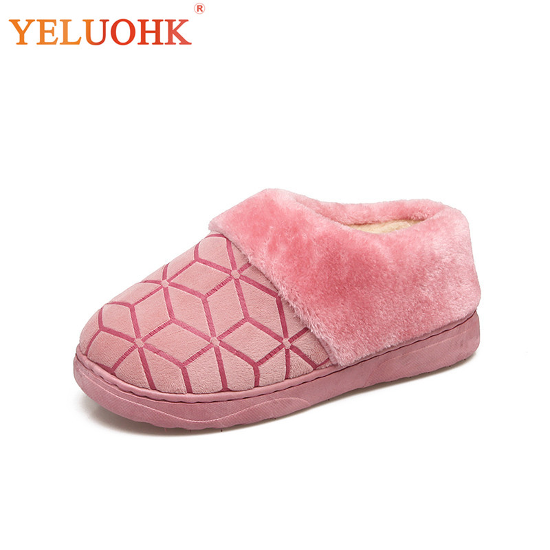 купить 2018 Winter Slippers Women Home Shoes Slip On Indoor Shoes Female Slippers Plush Warm онлайн