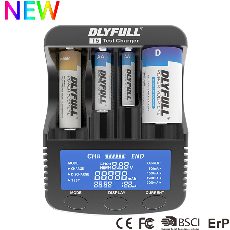 Battery Charger with Power bank Test Discharge for Li ion 18650 14500 10440 26650 32650 Ni