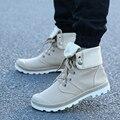 Nueva 4 Colores hombres zapatos Estilo Moda Alto-top Zapato de lona Militar Botines Cómodos Cargadores de la manera zapatos de los hombres Z254