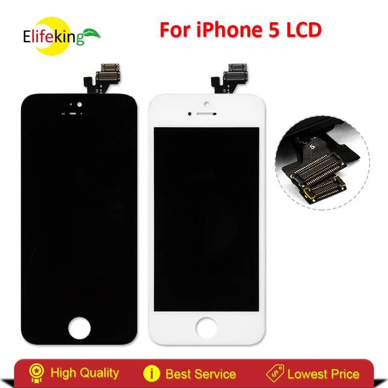 imágenes para Elifeking Pantalla LCD de Alta Calidad Para el iphone 5 5G Pantalla LCD Con Pantalla Táctil Digitalizador Asamblea Negro/Blanco envío Gratis