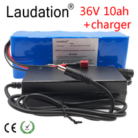 Laudation 36V 10Ah Li ion battery for electric bicycle 500W engine or Motorcycle Scooter with BMS High Power 10S 3P