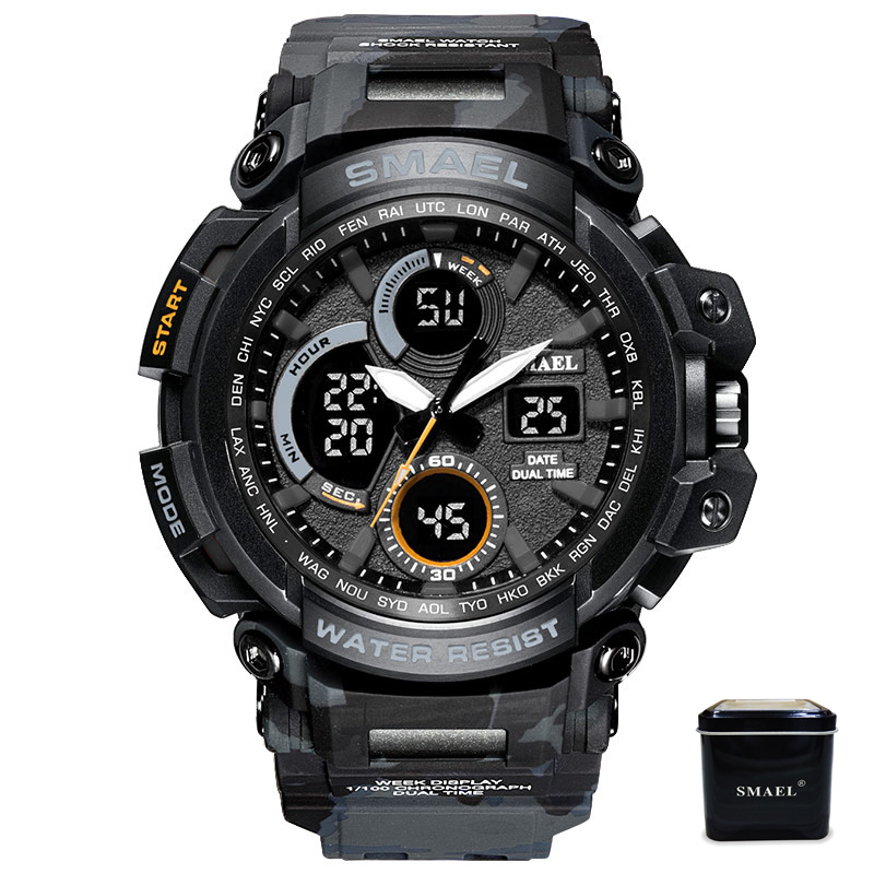 SMAEL Montres Hommes Analogique Quartz Numérique Montre Étanche Sport Montres pour Hommes LED Électronique Militaire Horloge Reloj Hombre 2018
