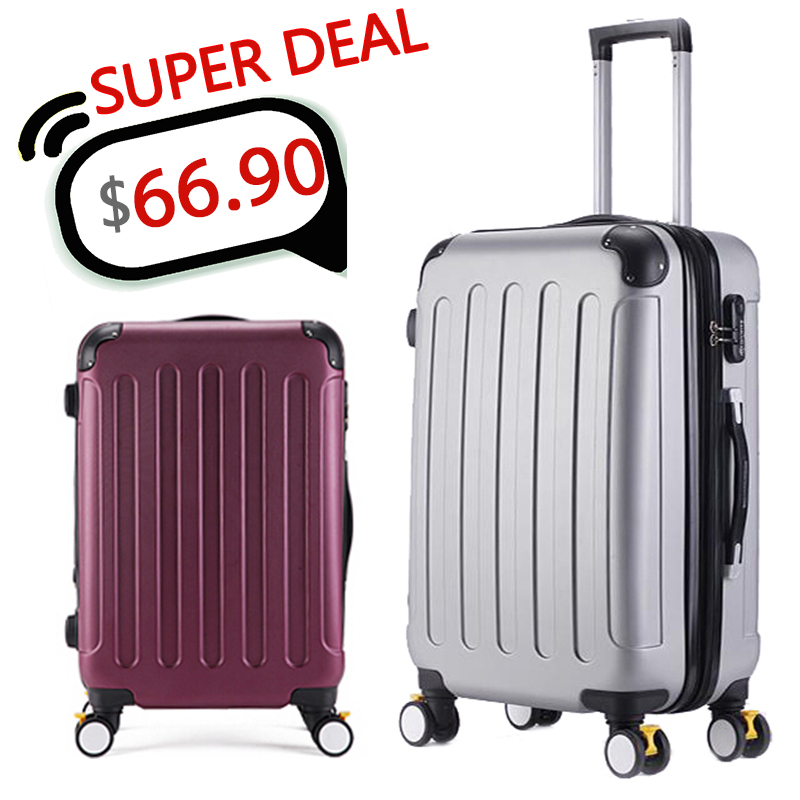 20,24,28 Inch,Spinner Wheel ABS Luggage Travel Bag,Travel Suitcase,Hardside Luggage,Rolling Luggage,CA001 - Fashion store